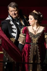 Baritone Ambrogio Maestri & Soprano Jennifer Rowley in Tosca (photo: Jessica Griffith